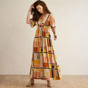 Anthro The Odells Sienna Maxi Dress in Tunis
